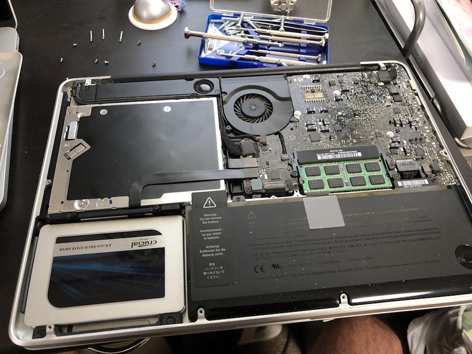 MacBook Pro mid2009 HDDからSSDへ変更手順10